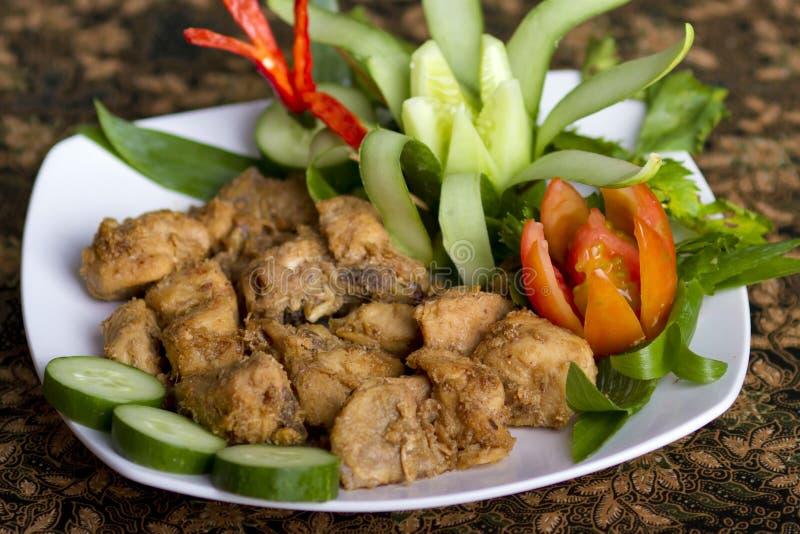 Plats de poulet traditionnels photo stock