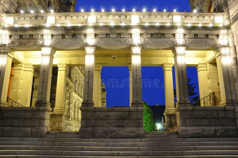 plats för byggnadsnattparlament royaltyfria bilder