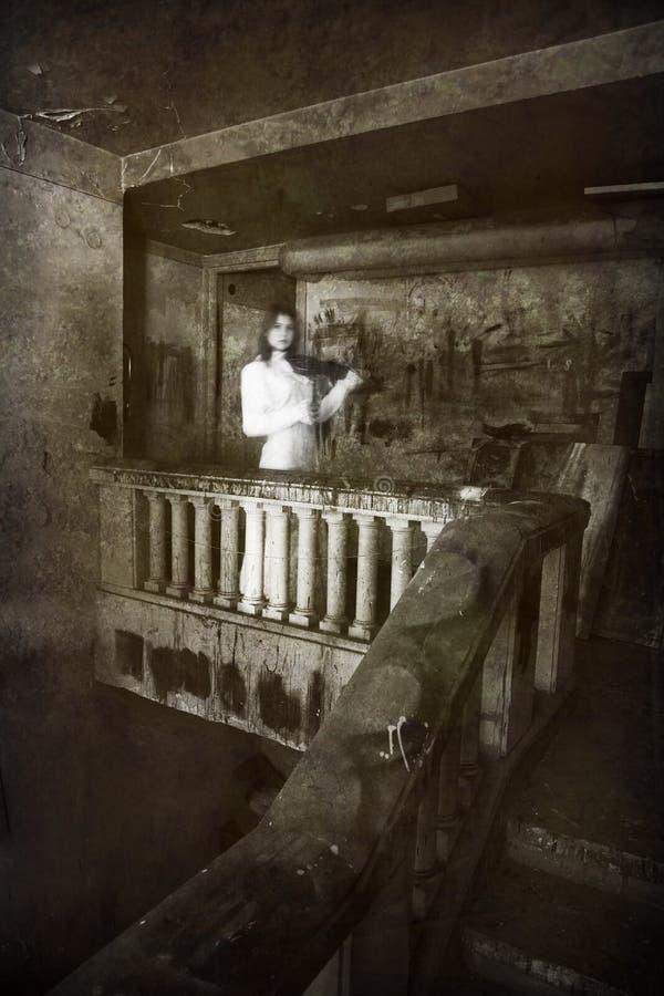 Plats för fasafilm, Scarry flicka arkivbild
