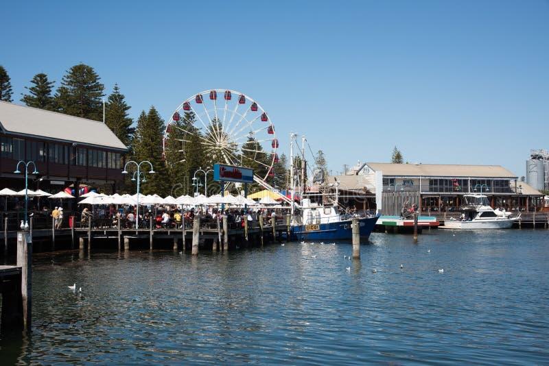 Plats för Fremantle fiskebåthamn royaltyfri bild