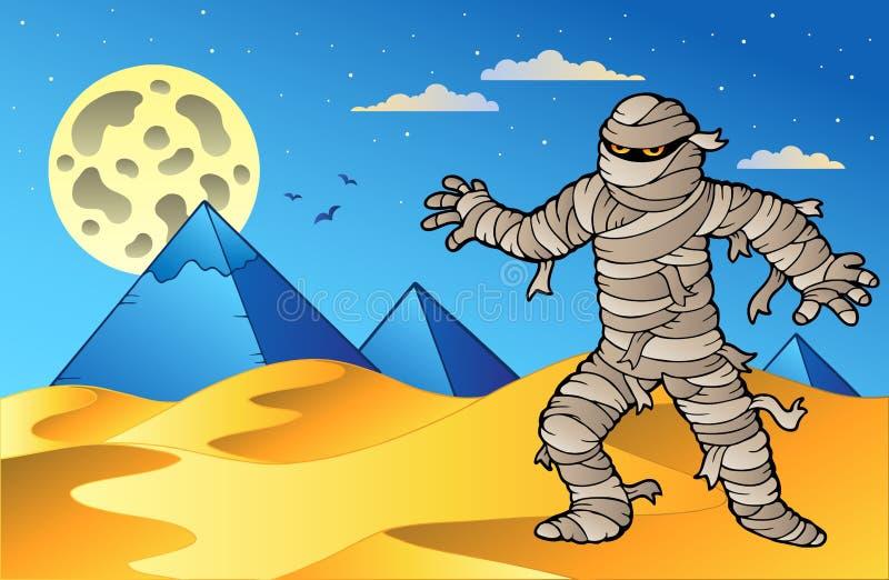 plats för mammanattpyramider stock illustrationer