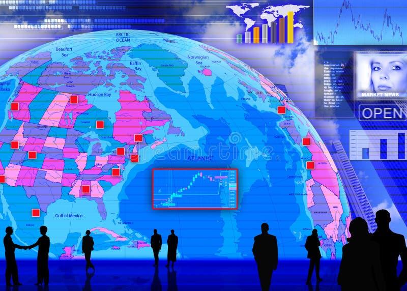 plats för marknad för valutautbyte utländsk vektor illustrationer
