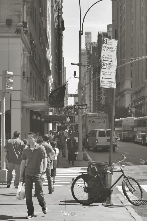 Plats för stads- liv i New York City royaltyfri bild
