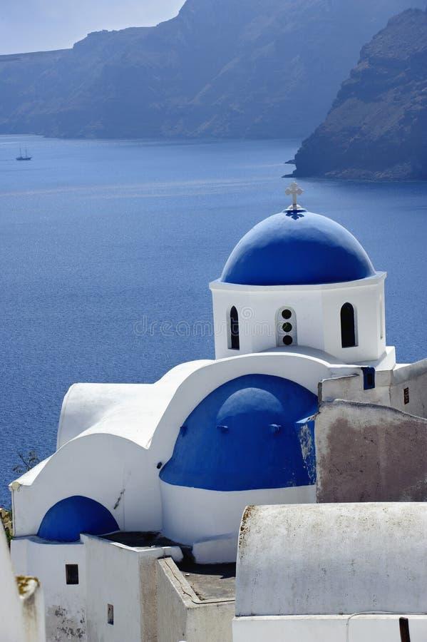 Plats i den Santorini ön, Grekland arkivbilder