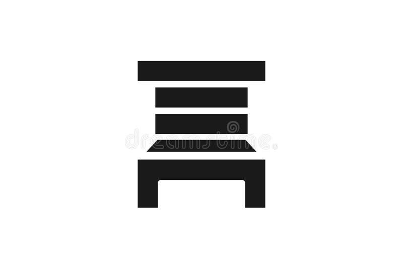 plats stollogo stock illustrationer