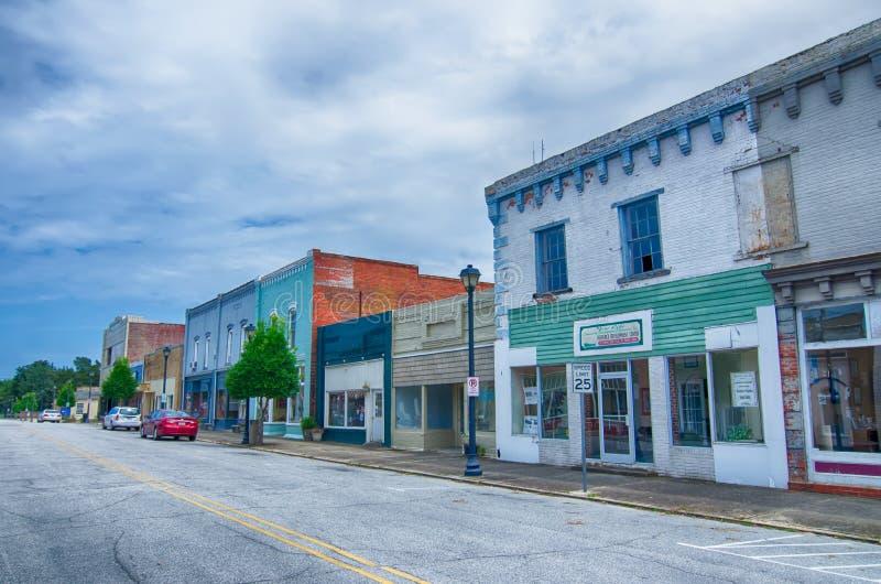 Platser för Plymouth stadNorth Carolina gata royaltyfri bild
