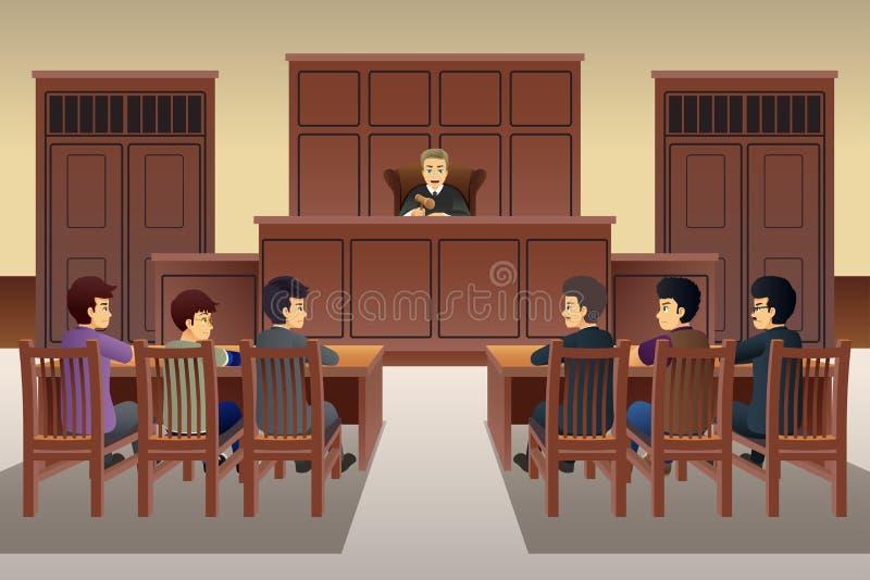 Platsillustration för folk i rätten royaltyfri illustrationer