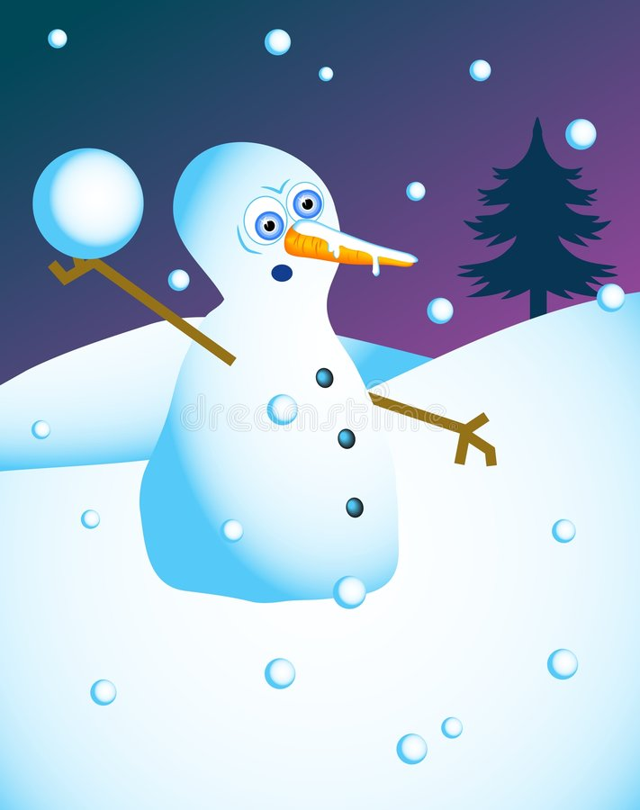 Download Platssnowman stock illustrationer. Illustration av ferier - 39877