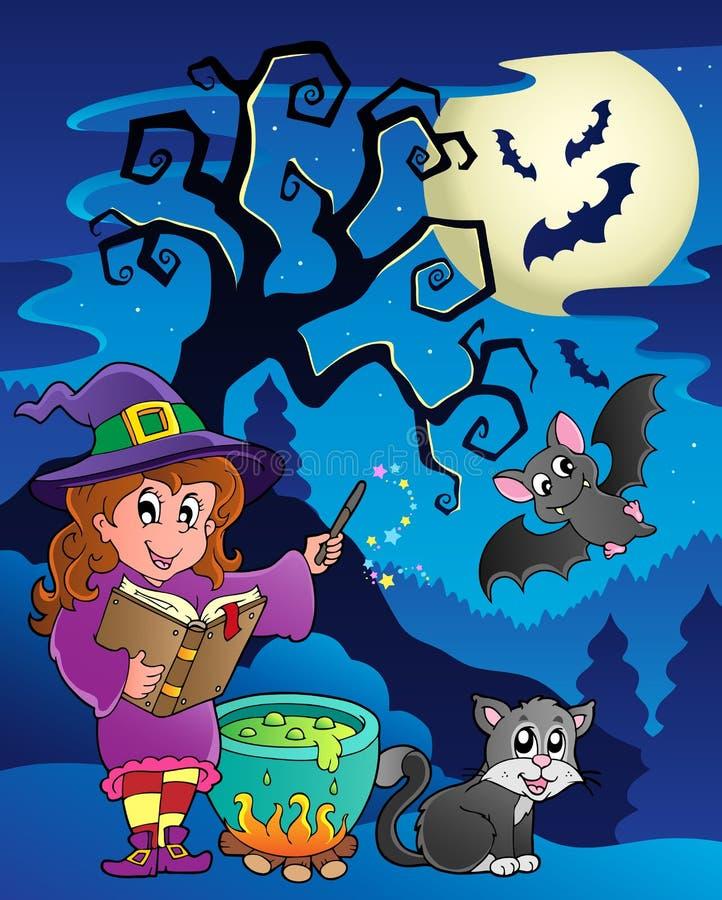 platstema för 9 halloween royaltyfri illustrationer