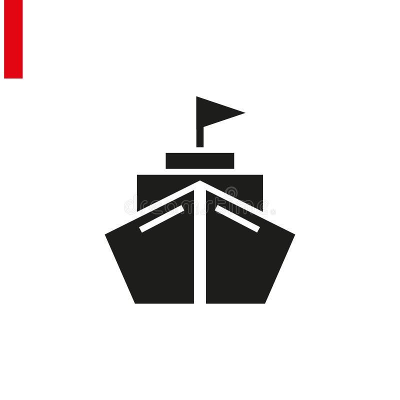 Platt transportikon Svart piktogram på grå bakgrund Symbol för vektorillustration royaltyfri illustrationer