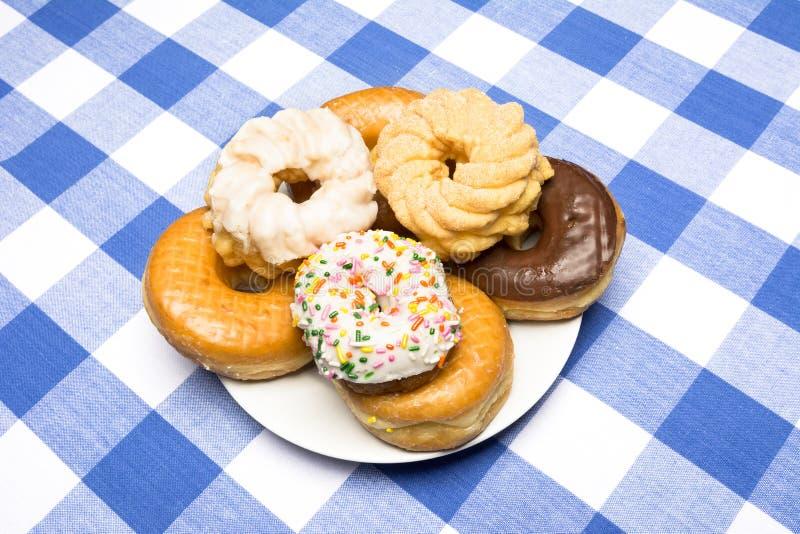 Platta av Donuts arkivfoto