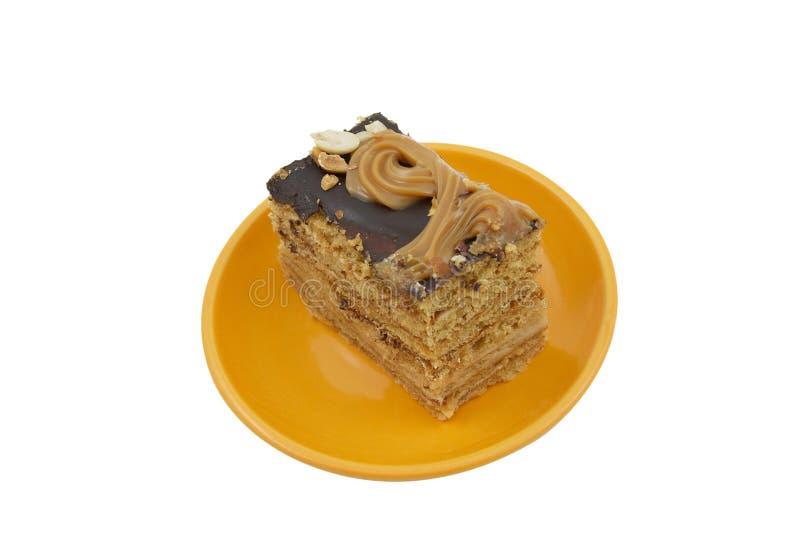 platta för cakehonungstycke fotografering för bildbyråer