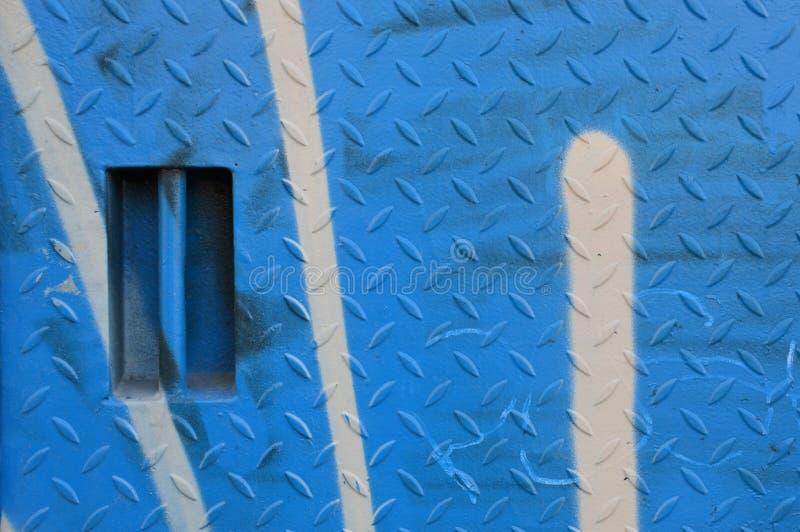 Platta för Kobalt blåttreva med dörrhandtaget royaltyfria foton