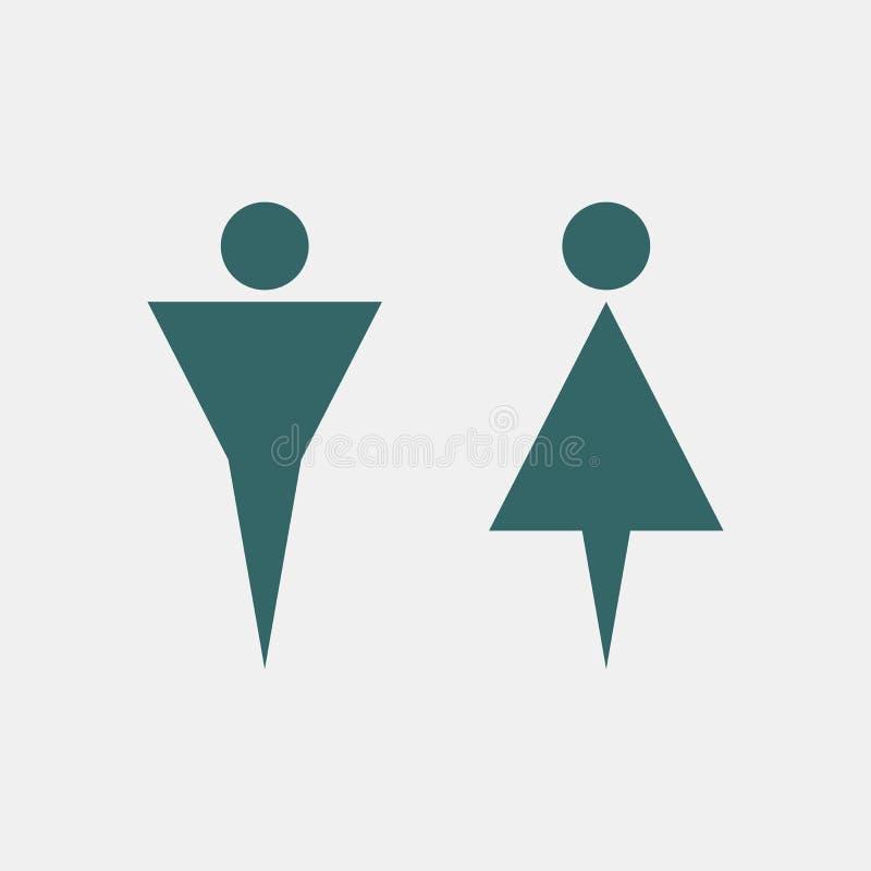 Platta för vägg för toalettWC-dörr royaltyfri illustrationer