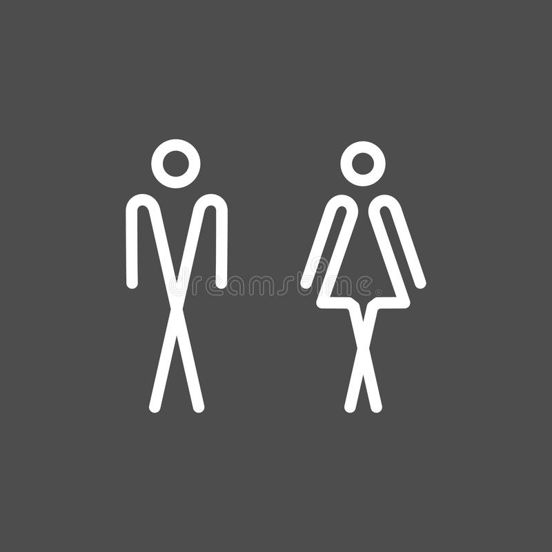 Platta för vägg för toalettWC-dörr vektor illustrationer