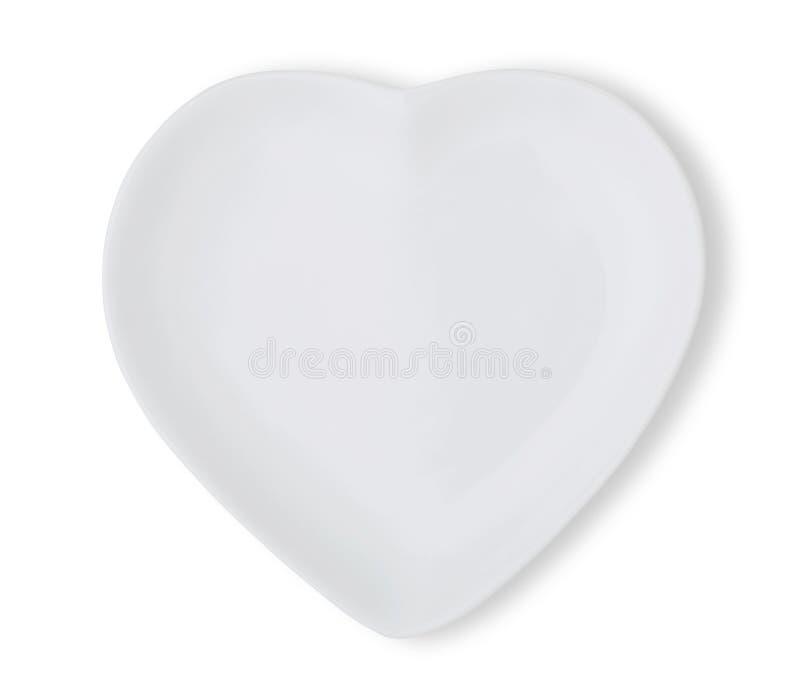 platta i form av hjärta arkivfoto