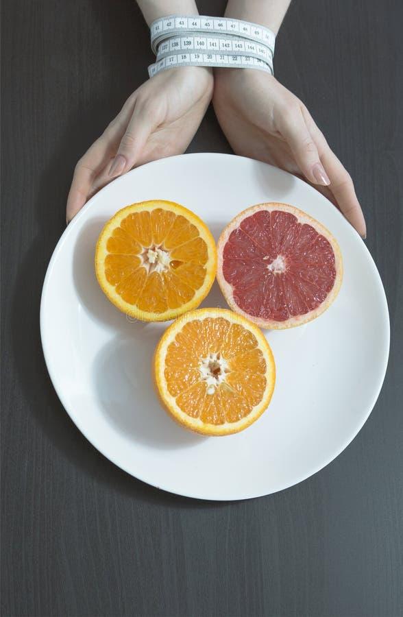 Platta med apelsiner royaltyfri fotografi