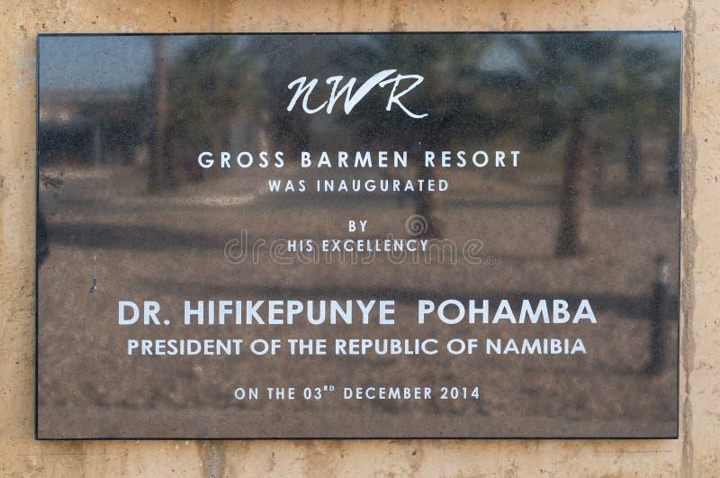 Platta som firar minnet av beträffande-öppningen av de brutto- bartendrarna, tillgriper royaltyfri fotografi