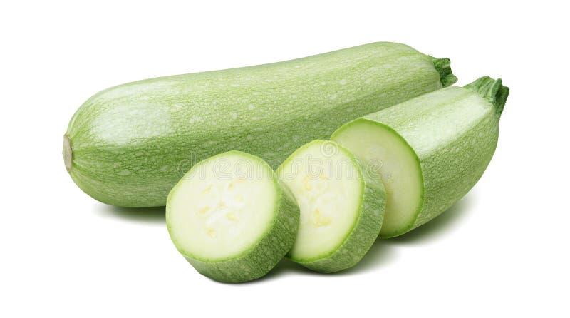 Platta till zucchinin för grönsakmärg isolerade 4 på vit royaltyfria foton