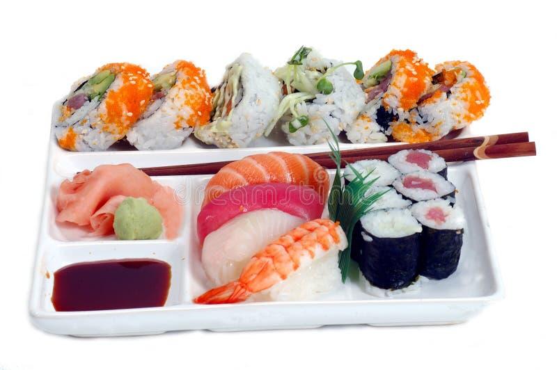 Download Plattasushi arkivfoto. Bild av japan, över, pinnar, rice - 31032
