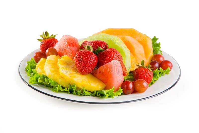 Platte der Frucht lizenzfreie stockfotos