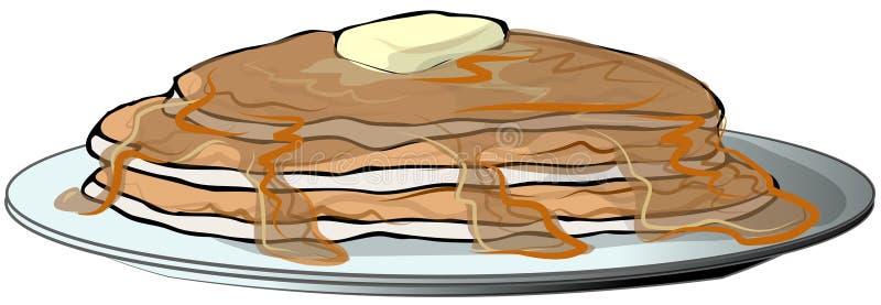 Platte der Pfannkuchen lizenzfreie abbildung