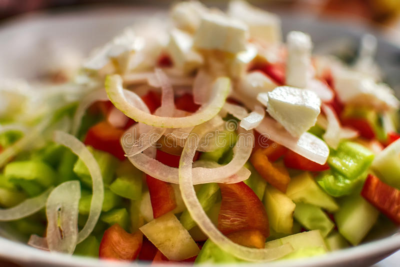 Platte des Salats stockbilder