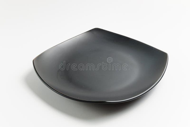 Platte des schwarzen Quadrats stockfotos