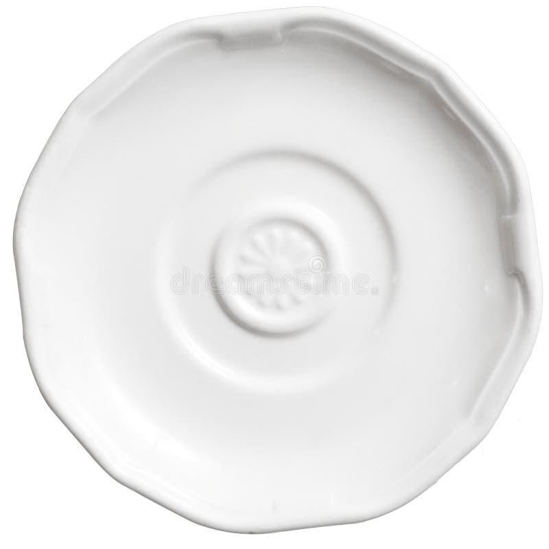 Platte des weißen Kaffees stockfoto