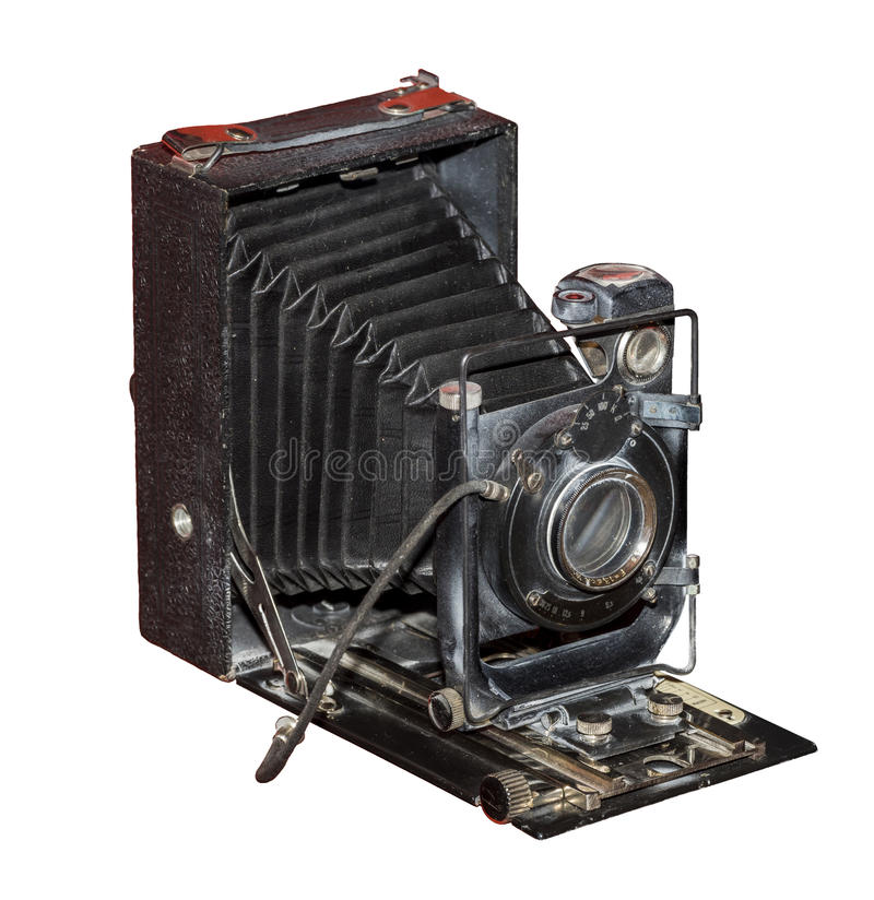 Platte-faltende Kamera, 1930 stockfotos
