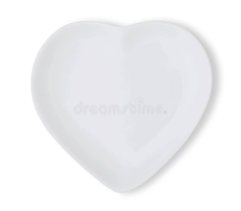 Platte in Form des Herzens stockfoto