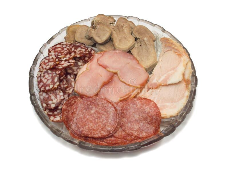 Platte mit Fleisch lizenzfreies stockbild