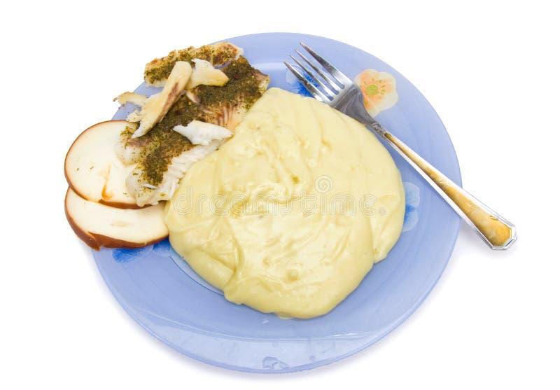 Platte mit geläufiger Nahrung stockbilder