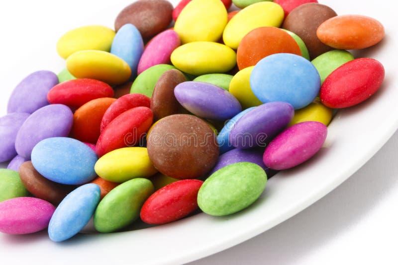 Platte mit Süßigkeit lizenzfreie stockfotografie