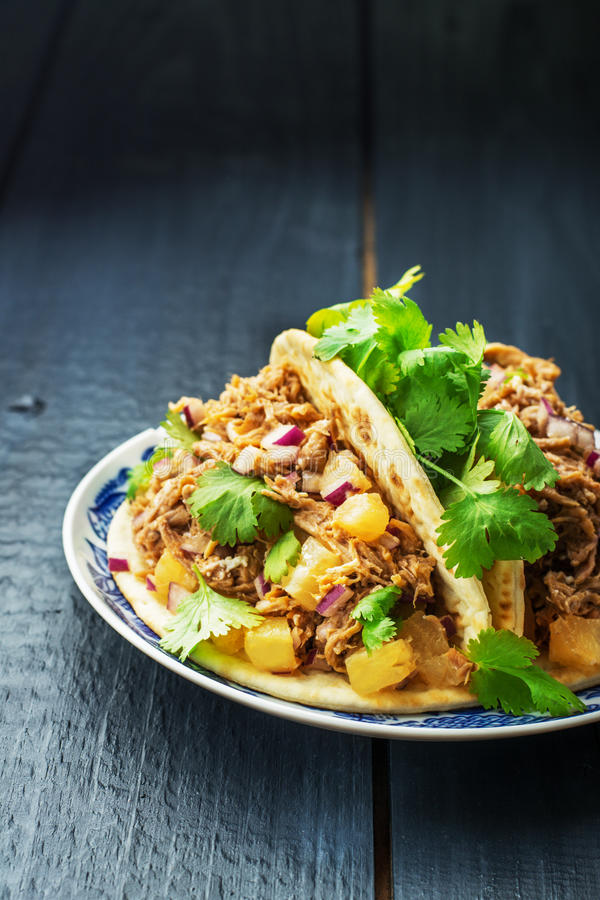 Platte mit Taco lizenzfreie stockfotos