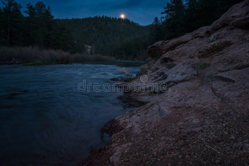 Platte River na noite fotos de stock