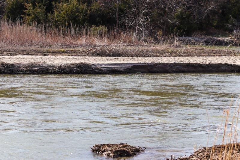 platte rzeczny Nebraska w Tooley parku Marquette obraz stock