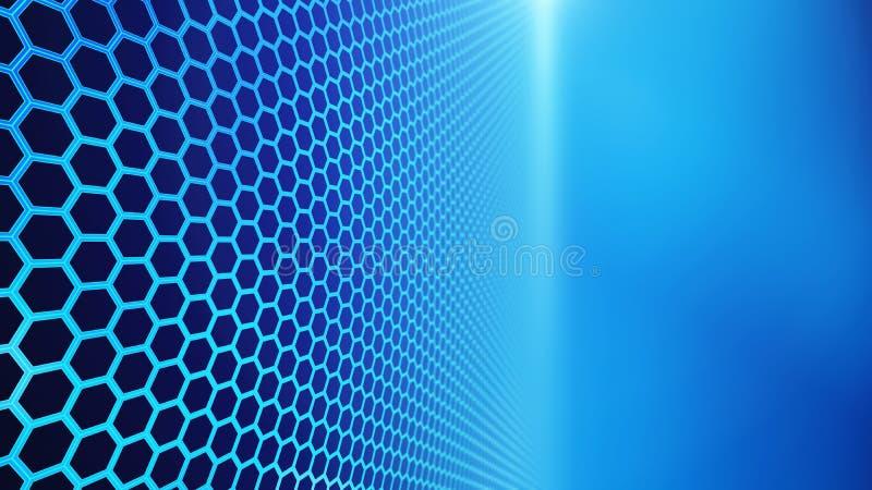 Platte von Hexagonen, abstrakter Hexagonhintergrund der Technologie vektor abbildung