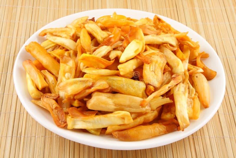 PLATTE VON Jack-Fruchtchips, stockbild