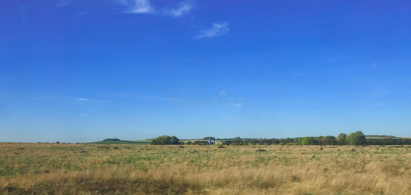 Platteland dichtbij Cambridge stock foto