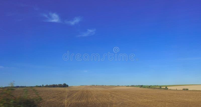 Platteland dichtbij Cambridge stock afbeeldingen