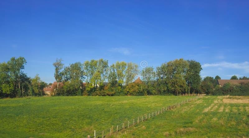 Platteland dichtbij Cambridge stock foto's