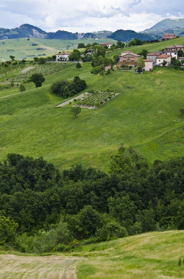 Platteland in Noordelijk Italië royalty-vrije stock fotografie