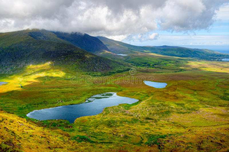 Platteland op Dingle Schiereiland stock fotografie