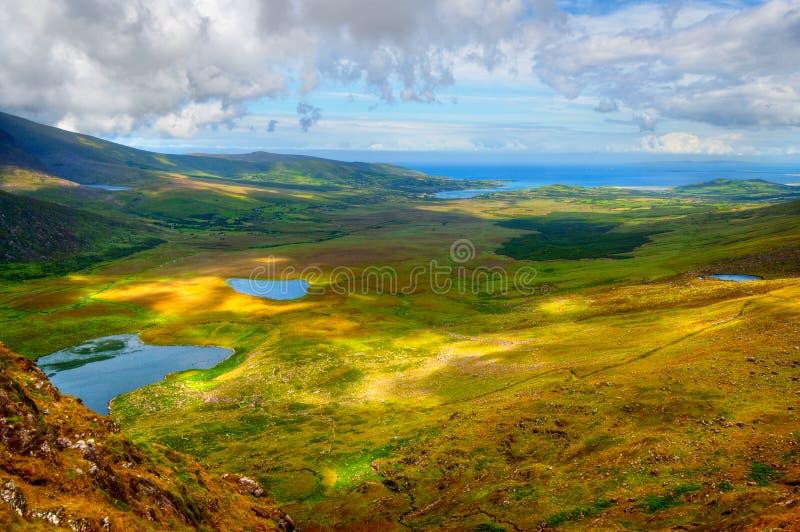 Platteland op Dingle Schiereiland royalty-vrije stock fotografie