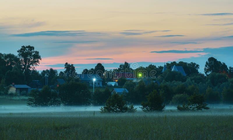 Platteland in Rusland royalty-vrije stock afbeelding
