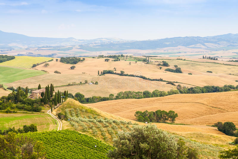 Platteland in Toscanië royalty-vrije stock fotografie