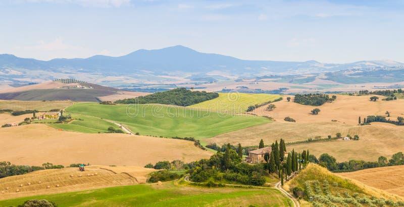 Platteland in Toscanië royalty-vrije stock foto's