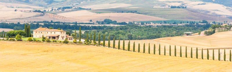 Platteland in Toscanië stock fotografie