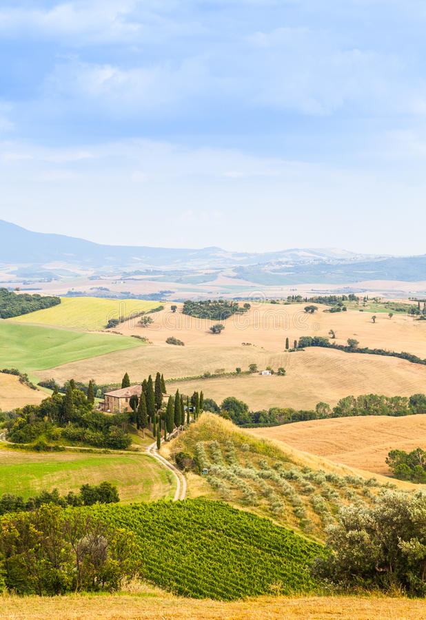 Platteland in Toscanië royalty-vrije stock foto